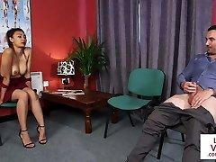 CFNM voyeur trains jerkoff at medic office