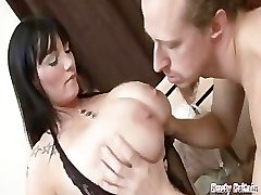 Xxl Hooters BBW Simone Gets Melons & Cunt Fucked