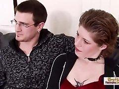 Ginger-haired tattooed MILF steals her sis's boyfriend