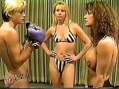 Cal Fine Christine vs Lee bra-less boxing