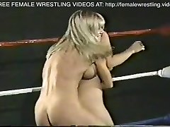 Lovely lesbians real tits wrestling match