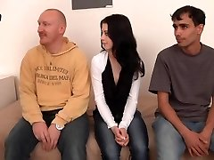 Hot pretty nympho dark haired with petite tits fucked hard