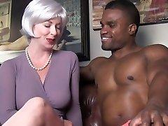 sexy milf seduces black guy
