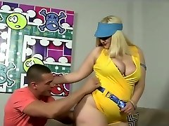 Huge assed blonde cougar fucked in her fat ass