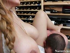 Brutal stud Jordan Ash tears up mega busty cutie Yurizan Beltran in champagne cellar
