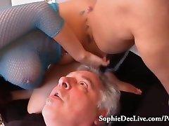 Lick Mistress Sophie Dee's Wet Pussy Sub!
