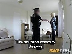 Fake Cop Biotch gets plowed by cop in her flat
