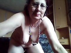 Kinky fur covered granny loves peeing in the bucket