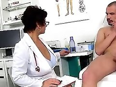 Dirty czech cougar Gabina is super-naughty doctor in cfnm action