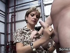 Unfaithful british mature woman sonia exposes her giant hoote