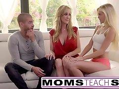 Moms Teach Lovemaking - Big tit mom catches daughter