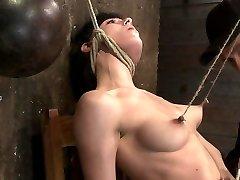 Brutal Nipple Pulling, Slow Strangulation, Extraordinary Back Archingmade To Cum So Hard, So Often. - Hog Tied