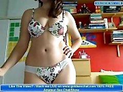 Magnificent Amateur Teen Disrobe on Webcam Big Tits