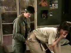 Jamie Summers, Kim Angeli, Tom Byron in old-school hook-up scene
