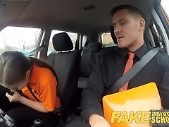 Faux Driving School Backseat oral jobs and deep creampie