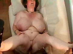 Granny with ample melons.belly & glasses