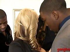 Big boobs blondie ho Sarah Vandella dped by big dark-hued chisels
