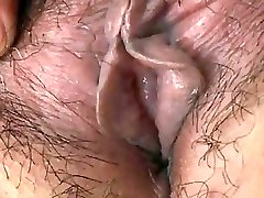 Japanese Grannie shows Tits and Pussy