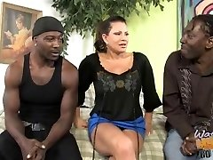 Mature mother with big boobs smashed by two black bros