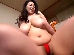 Mother Show Off Loincloth Body...Hagi Azusa