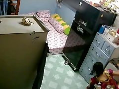 Unsecured Security Camera- Mother & Daughter-in-law after Bath