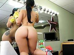 Kimmy Kush in Massive Latina Maid Enjoys First-ever Day - BangBros