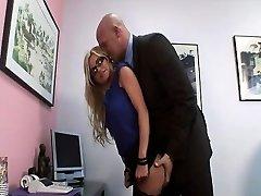 Super-naughty secretary gets slammed in her office