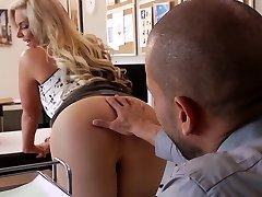 Big-titted platinum-blonde nympho Phoenix Marie sucks phat cock of brutal stud Karlo Karrera