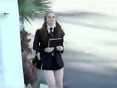 Scarlett Fay Shortest Schoolgirl Miniskirt Imaginable gets Exploited
