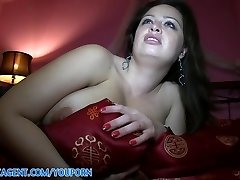 PublicAgent HD Thick Titted Brunette Falling for the Fake Movie Role