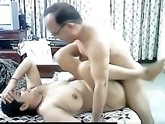 Mature arab duo makes a sextape in missionary pose with creampie