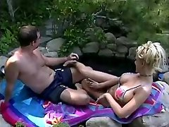 Tina Cheri is longing some jizm at the pool