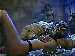 two scorching italian babes pounding in jail