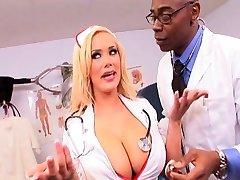 Nurse gets it in the rump