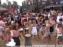 partying with their fun bags out on south padre beach