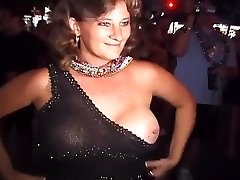 Naughty Party Damsels Flash Their Tits