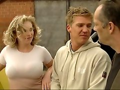 Blonde torn up by German construction workers