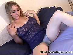 MILF with Gigantic Pussy Lips and Sopping Wet Climax Contractions