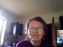 Saggy Tits Granny on Web Cam