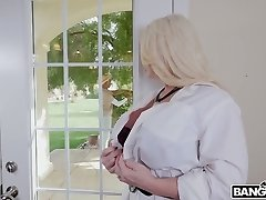 Cute looking dark-hued homie gets enticed by busty MILF Alura TNT Jenson and sucked