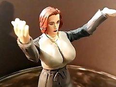 Gillian Anderson Xfiles Toy Fetish fantasy sci sculpt WIP