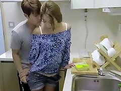 korean softcore collection steaming romantic kitchen fuck with sex toy