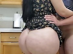 Hot Mom Plowing in kitchen