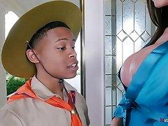 Ariella Ferrera takes Youthfull Boy on his Safari Fantasy