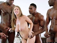 BLACKED Lena Paul first interracial gang-bang