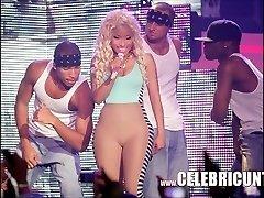 Black Celeb Nicki Minaj Exposed Juicy Tits And Cumshot Selfie