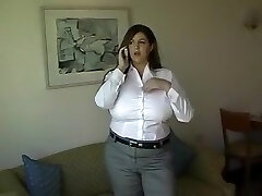 Crazy homemade Brunette, Ginormous Tits sex clip