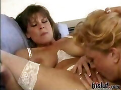 These lesbians have fun