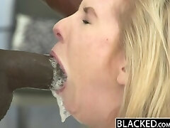 BLACKED Skinny Blonde Teen Stretched by Monstrous Black Dick