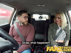 Fake Driving School 2 students have hot backseat sex
